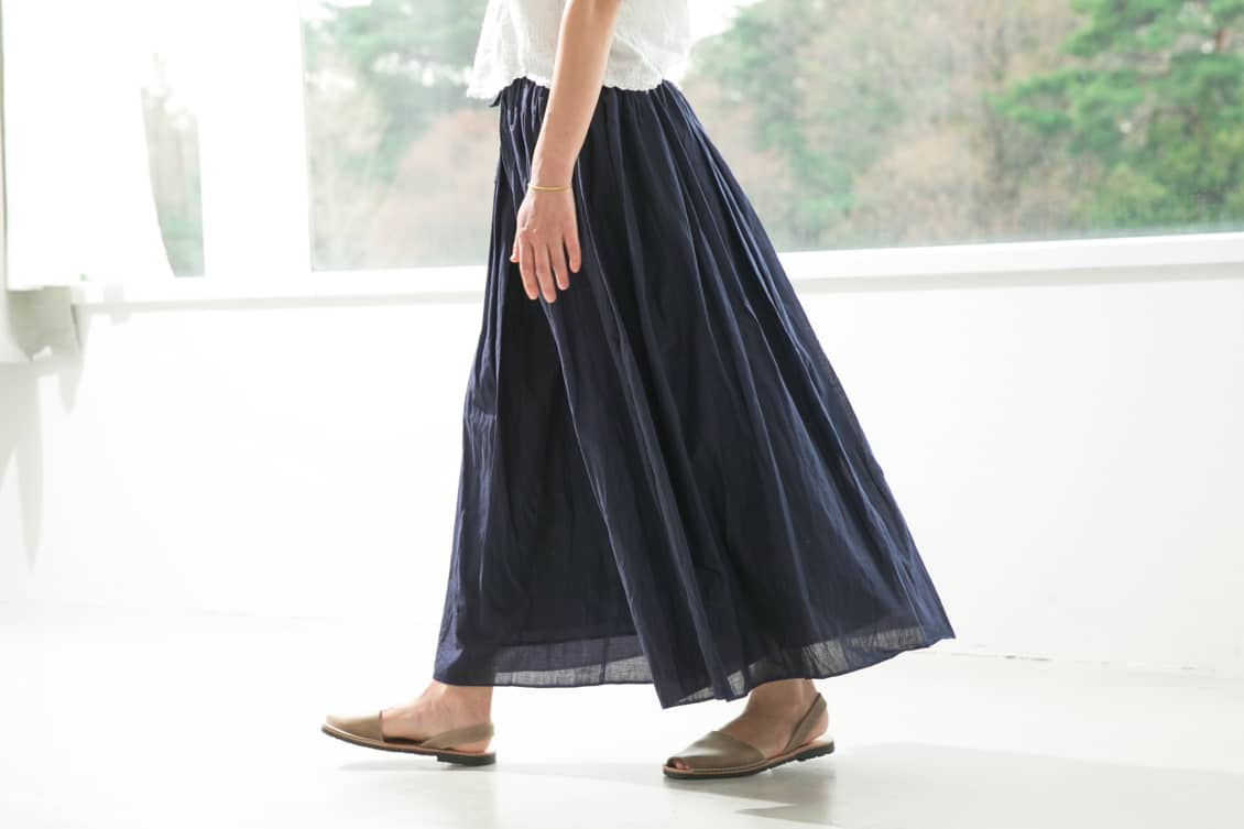 【取り扱い終了】SOIL/ソイル/ ギャザースカート(ネイビー)の商品写真