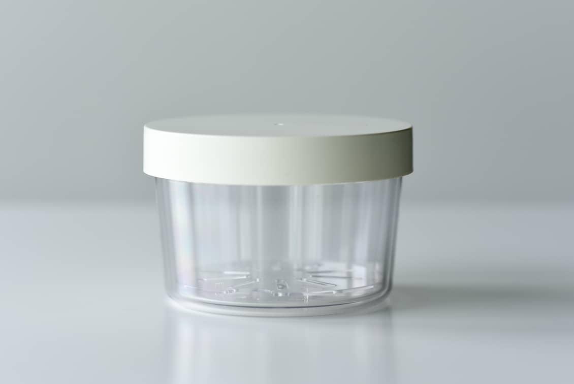 フタが保冷剤になるサラダ用ランチボックス/400ml/ホワイトの商品写真