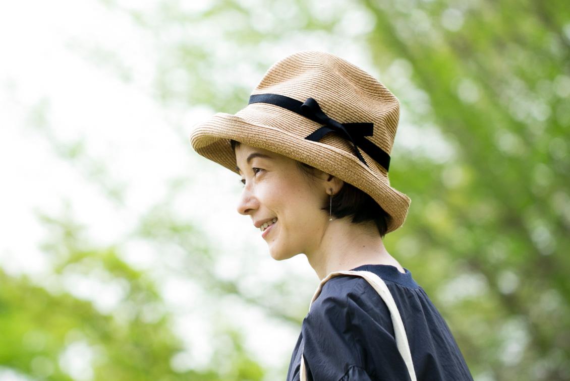 mature ha./マチュアーハ/BOXED HAT(つば幅11cm)/麦わら帽子の商品写真