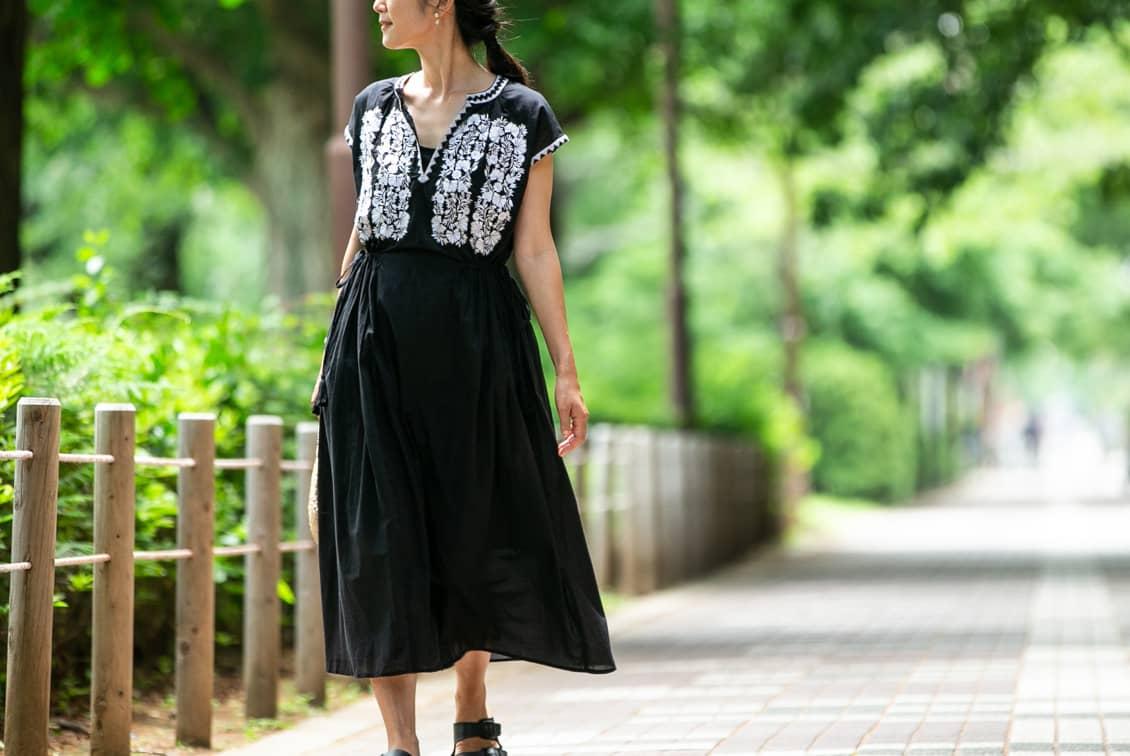 【今季終了】【数量限定】ne Quittez pas/ヌキテパ/フラワー刺繍ワンピースの商品写真