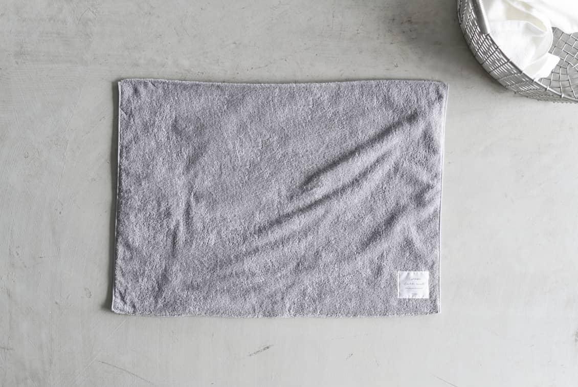 たっぷり吸ってさらっと乾く、コットンバスマット(グレー)/KURASHI&Trips PUBLISHINGの商品写真