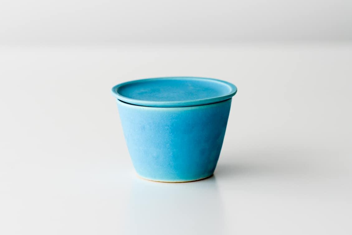 飯高幸作/小皿付きマグ/FUTACK/トルコブルーの商品写真
