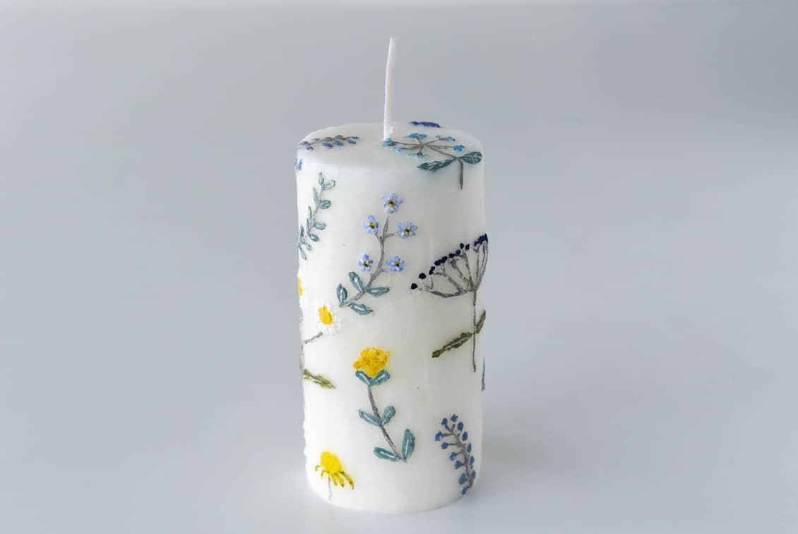 【次回5月入荷予定】nuri candle/庭に咲く花/アロマキャンドル(円柱)の商品写真