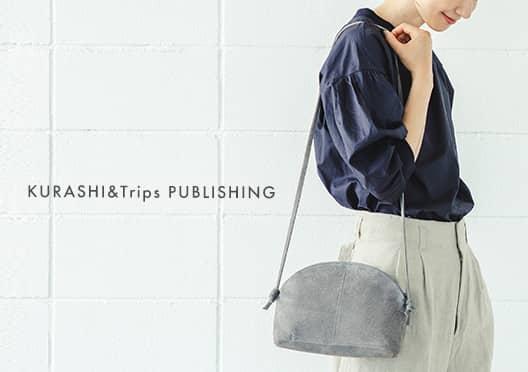 KURASHI&Trips PUBLISHING/撥水スエードのショルダーポーチの画像