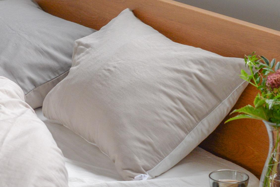 枕カバー/43×63cm(ホワイト×ベージュ)/KURASHI&Trips PUBLISHINGの商品写真