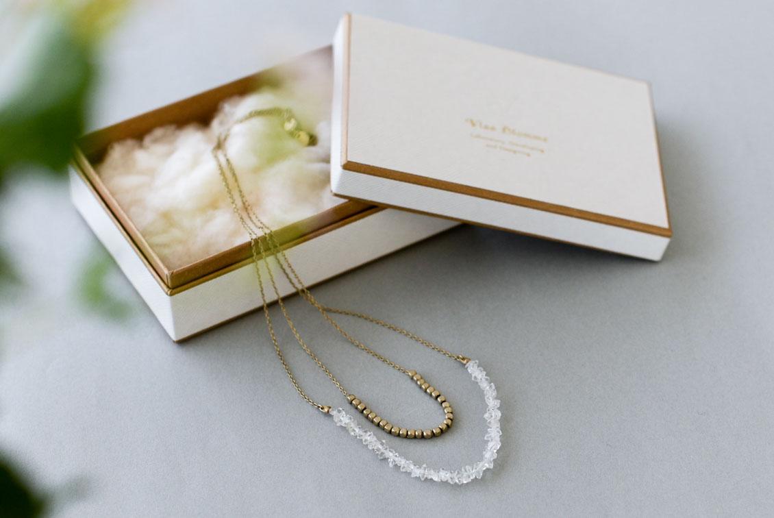 【次回5月末ごろ入荷予定】Vlas Blomme/ヴラスブラム/ハーキマーダイヤモンド 2連ネックレスの商品写真