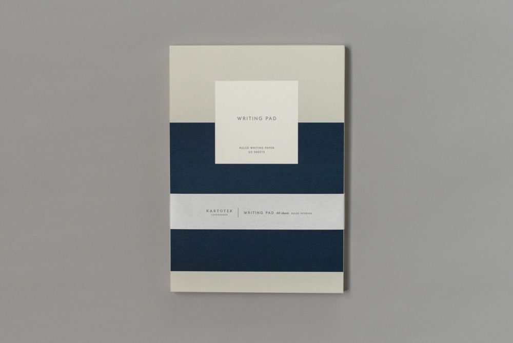 KARTOTEK/A5罫線/ノートパッド(ネイビー)の商品写真