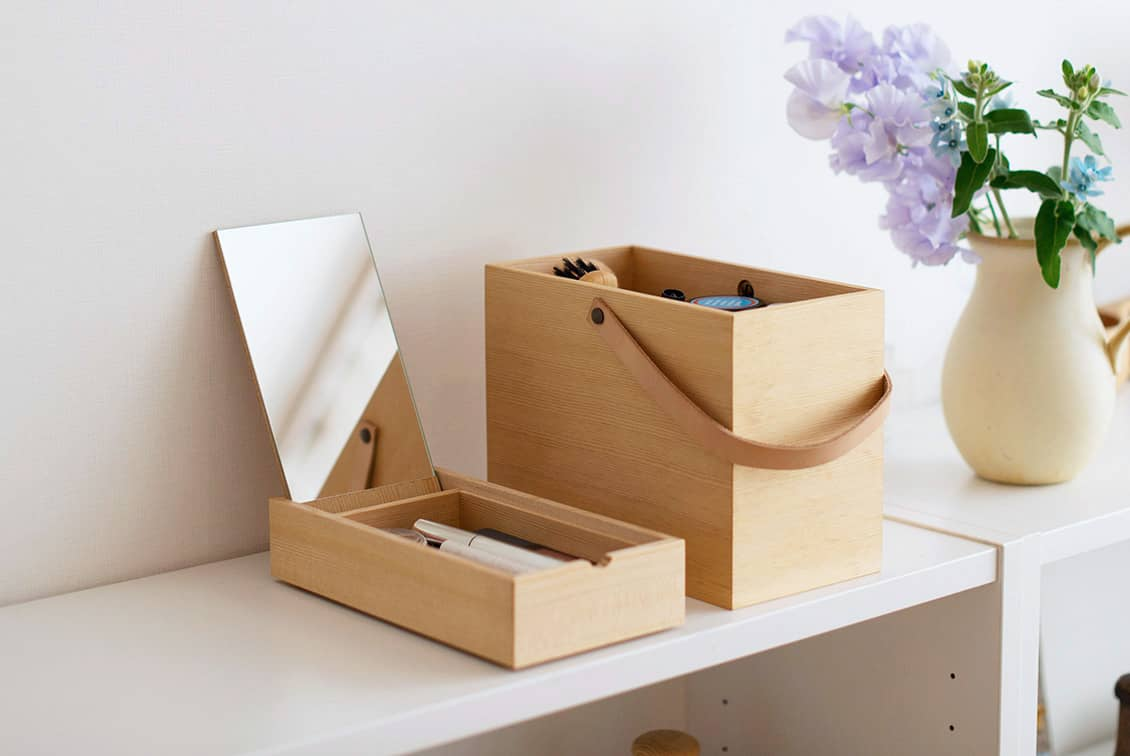【次回5月入荷予定】「私らしい一日のはじまりに」道具も気持ちも整うメイクボックス/KURASHI&Trips PUBLISHINGの商品写真