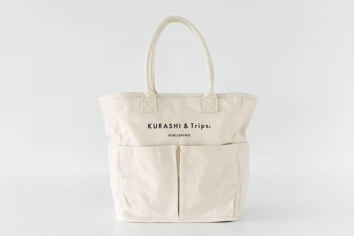 キャンバストート / レギュラーサイズ(生成り)/VegieBAG×KURASHI&Trips PUBLISHINGの商品写真