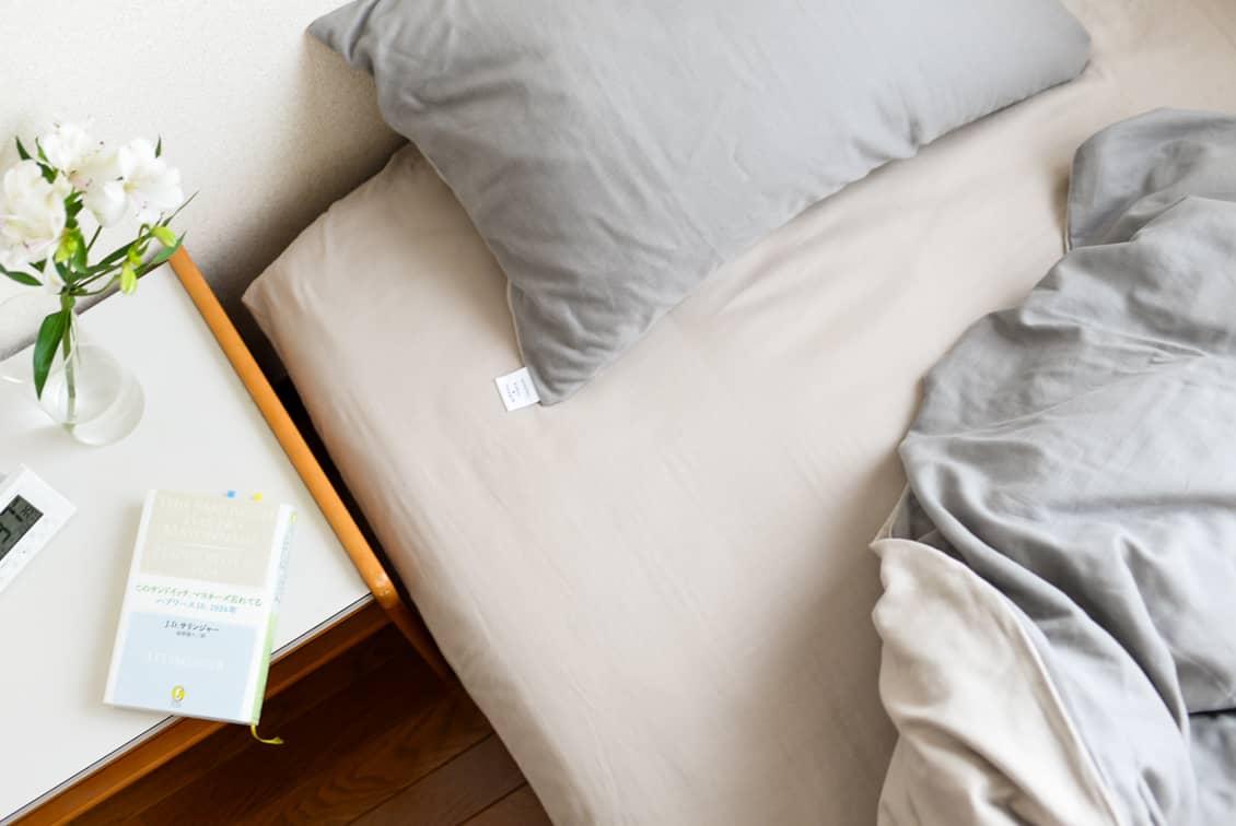 ボックスシーツ / セミダブル(ベージュ)/ さっとつけられる布団カバーシリーズの商品写真