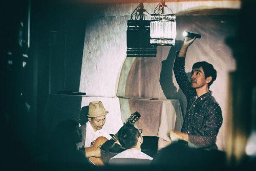 音楽家トウヤマタケオさんと画家nakabanさんによる幻燈音楽ユニット「ランテルナムジカ」