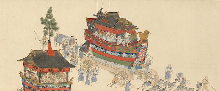 横山華山《祇園祭礼図巻》(上巻部分)天保6-8(1835-7)年 個人蔵