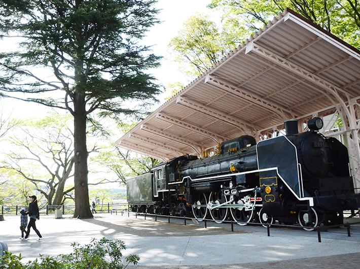 蒸気機関車のある「西公園SL広場」
