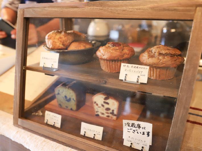 手作りのマフィンやケーキはどれも美味しそうで思わずため息。