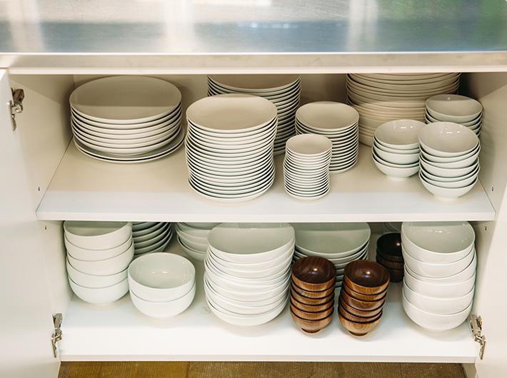 食器の数や種類も豊富に揃っています