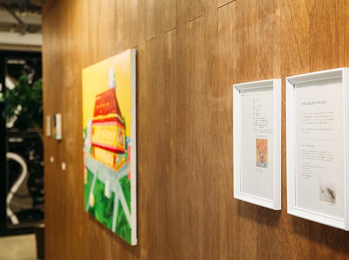 取材時には仙台在住のグラフィックデザイナー木村良さんの展示が開かれていました