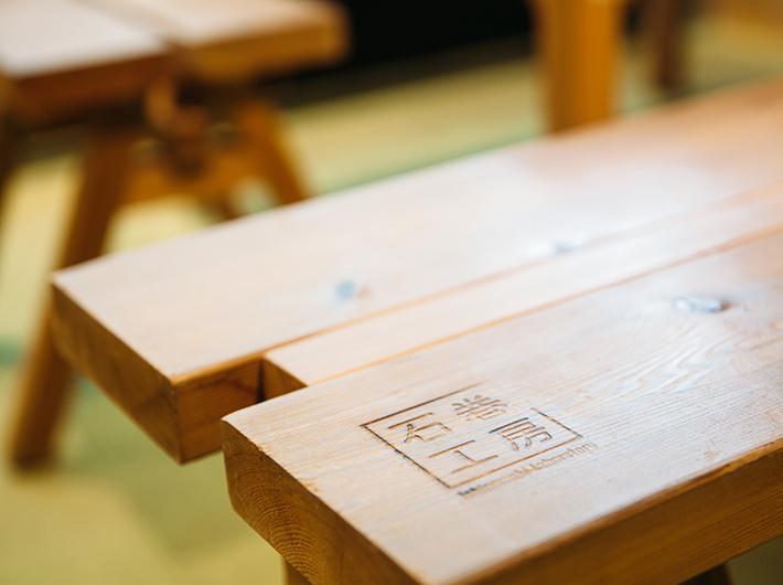 ファンの多い石巻工房の家具はcocolinのために作ったそう