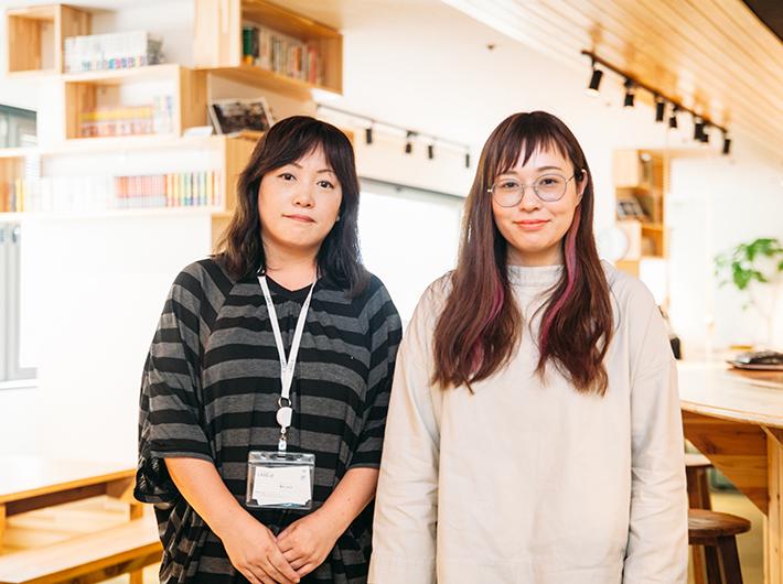 左から、地域イノベーショングループ 栗本 今日子さん、brIT事業部システムアナリスト 星 優里奈さん