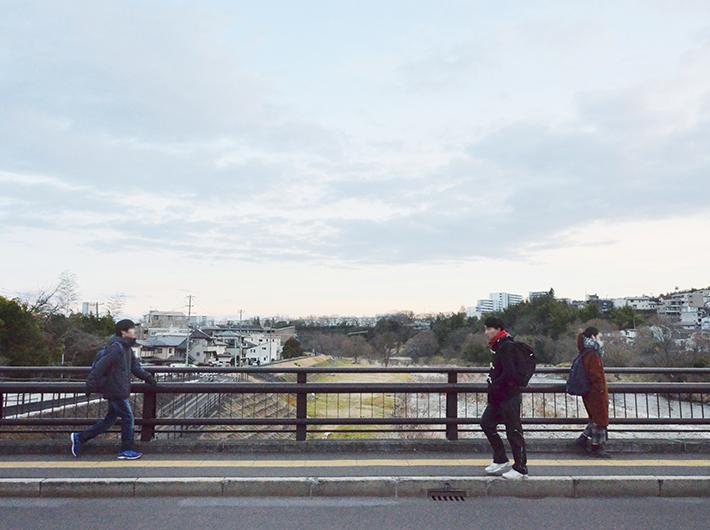 東北大などがある川内方面へ続く牛越橋