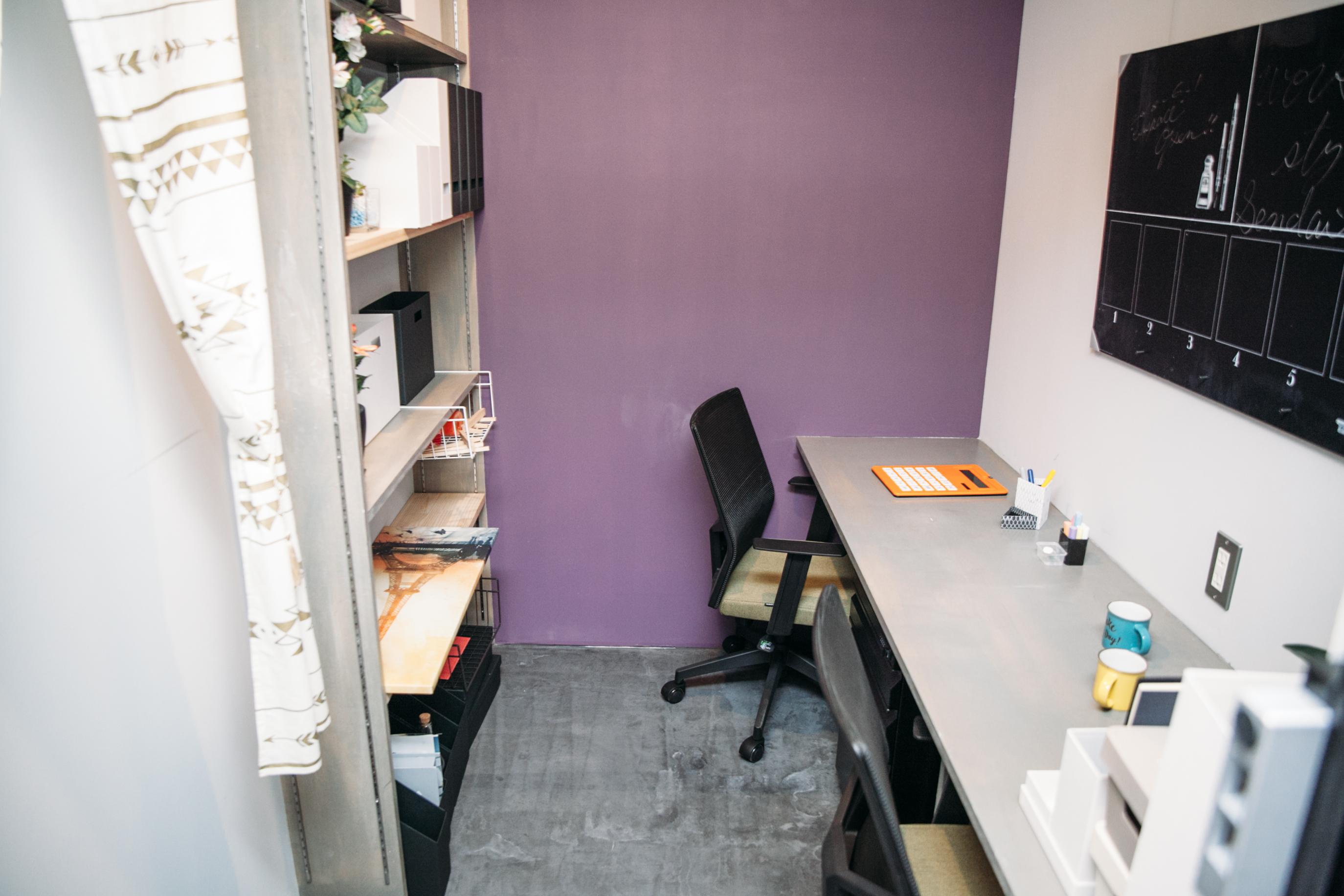 2名用の個室オフィス