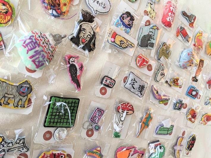 ナガモト刺繍店さんの作品。ポップでおもしろい~!