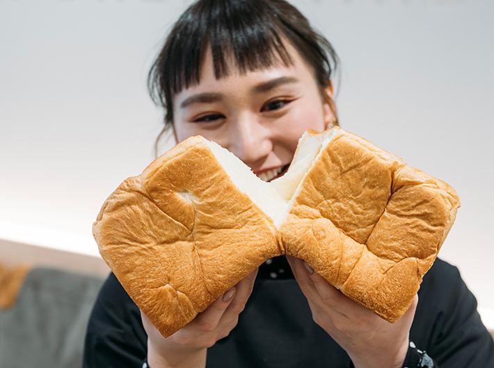 きめ細かな食パンの生地に感動!