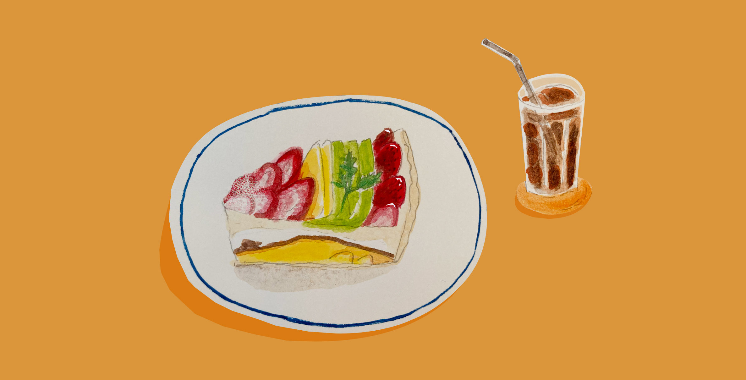 くらしとおやつ 「café mozart Figaro(カフェモーツァルトフィガロ)」のフルーツタルト
