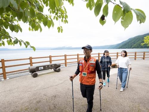 【支笏湖を歩く】ポール貸出あり!ノルディックウォーク体験付き/ビュッフェ