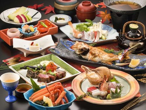 【極上会席プラン 輝 -KAGAYAKI- 】贅沢な休日に〜料理長おすすめの極上会席料理とゆったり滞在