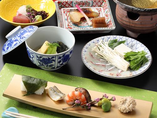 【京料理会席・スタンダードプラン】新鮮な京都の伝統野菜と旬素材をふんだんに使った四季折々の会席に舌鼓