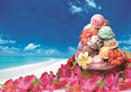 10種類のブルーシールアイスと手作り島料理の朝食ブッフェ付き