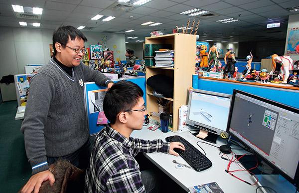 大宇資訊設計出許多熱門遊戲,受到年輕人的歡迎。