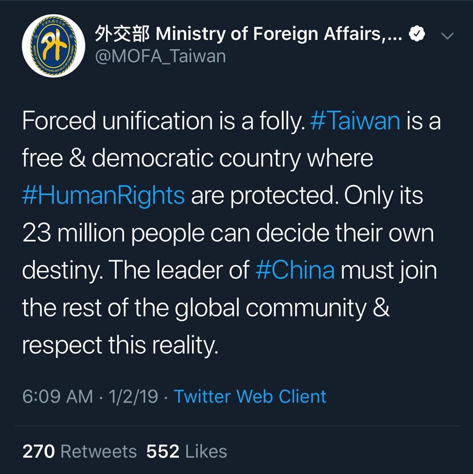 外交部長吳釗燮署名發文 Twitter頻嗆中國引熱議