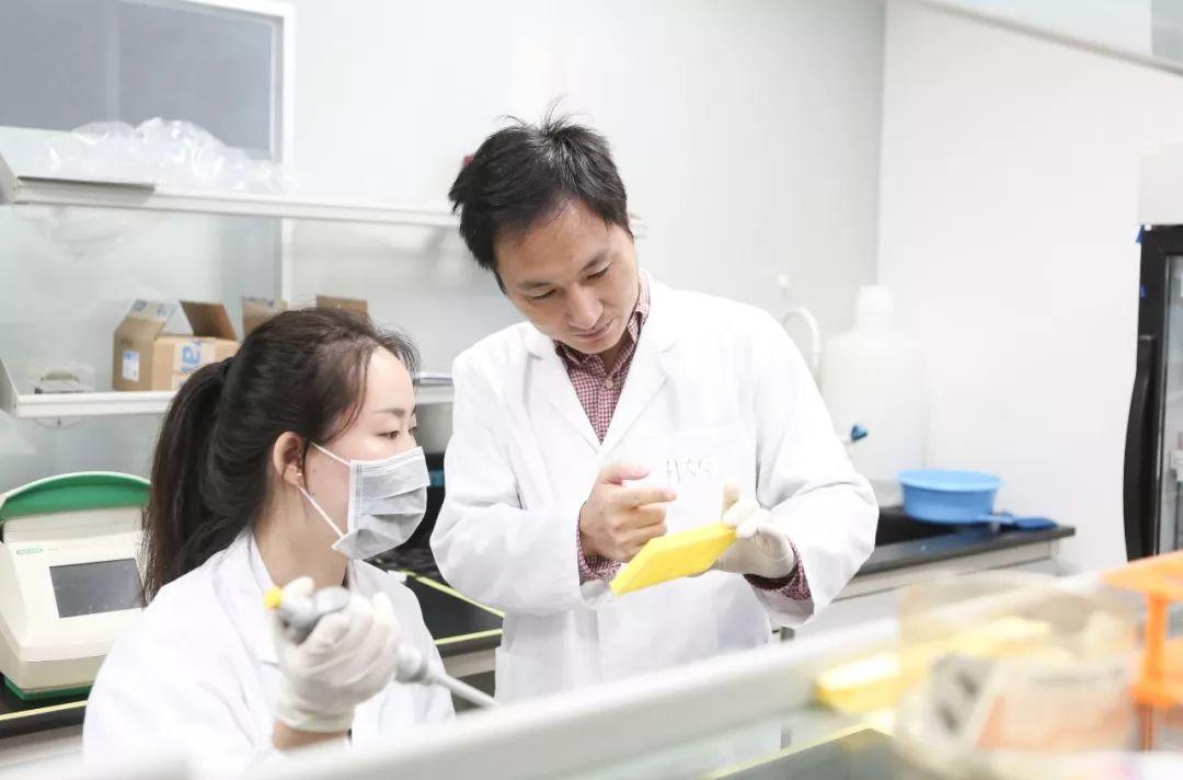 ▲2016年8月4日,深圳市瀚海基因生物科技有限公司內,賀建奎指導實驗室工作人員工作。