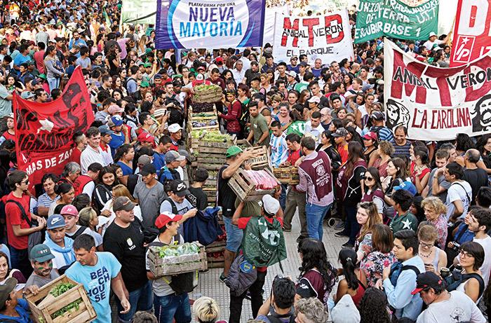阿根廷當地農民參與抗議政府行動