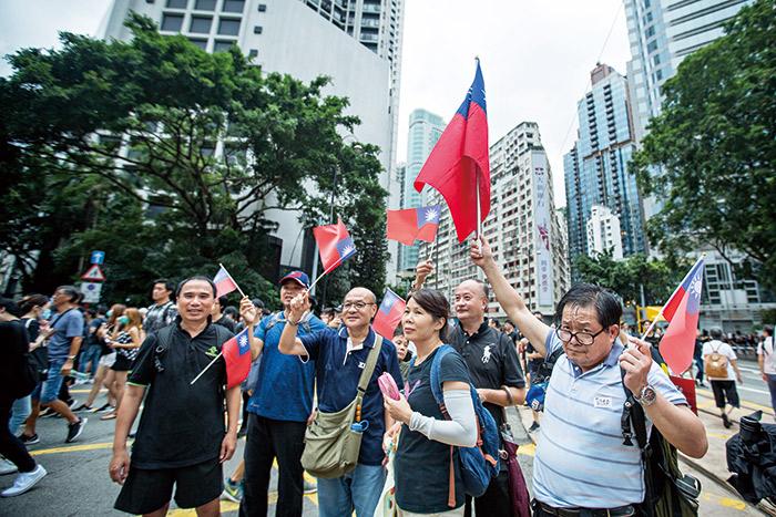 香港街頭818集會