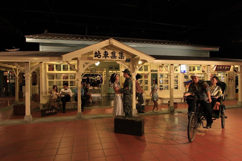 寶島時代村內有許多懷舊場景,供遊客拍照打卡。