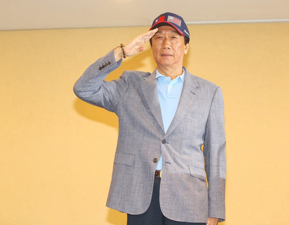 郭台銘強調若當上中華民國總統,在談判桌上一定是與中國平起平坐。