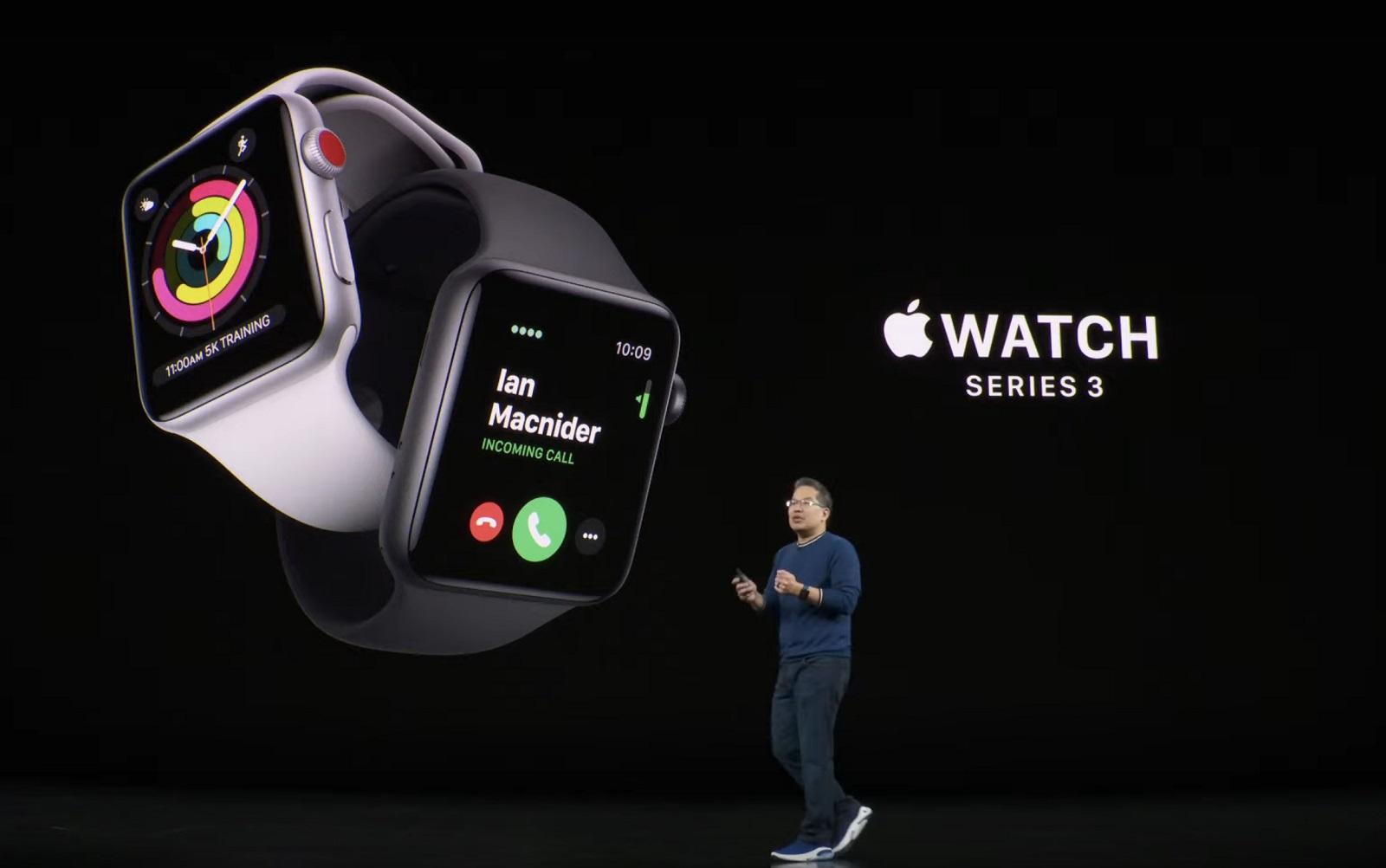 智慧手錶Apple Watch成蘋果近年主攻項目。圖/蘋果發表會提供。