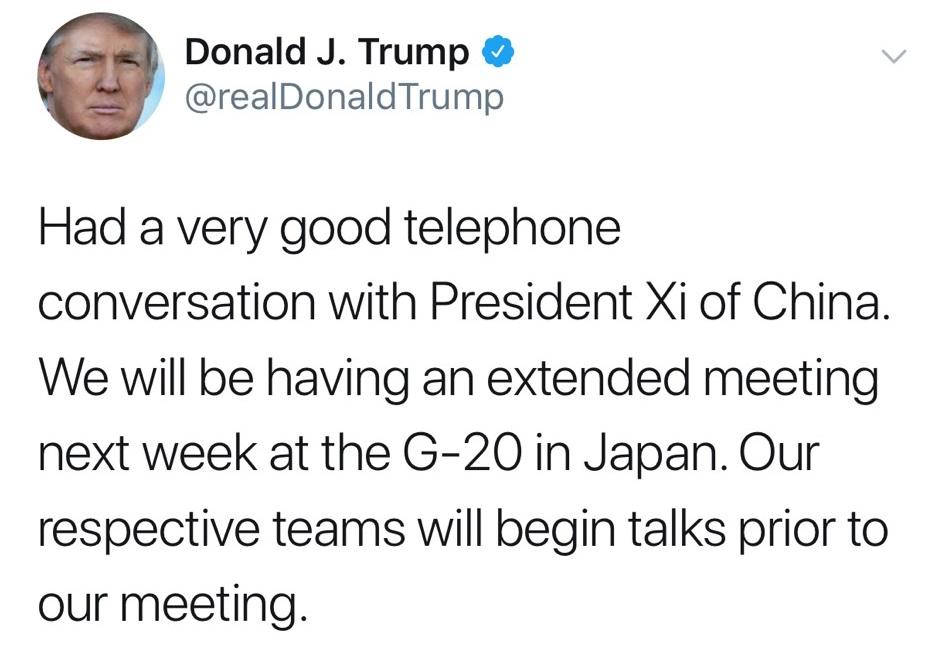 打破僵局!川普將和習近平在G20見面