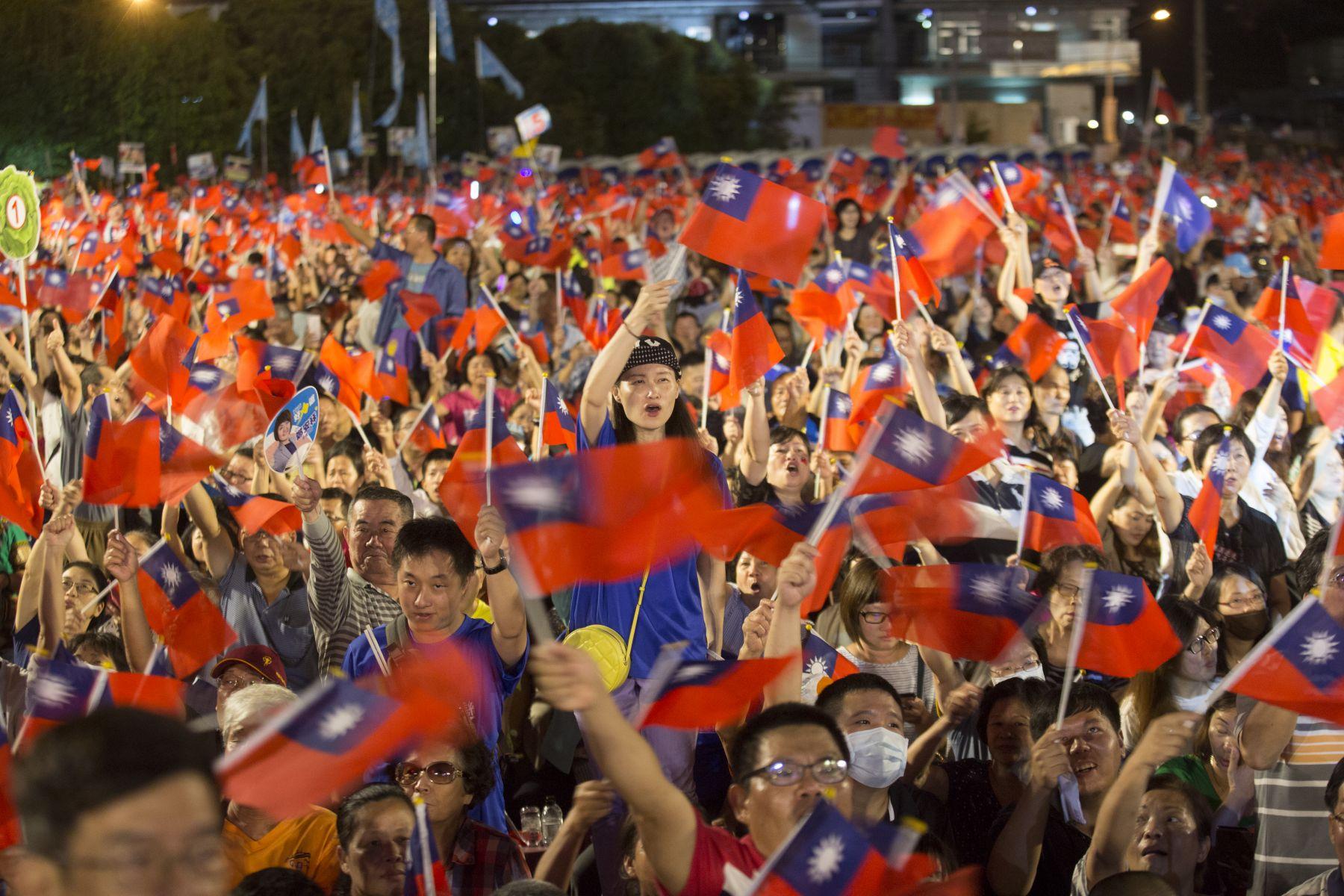九合一選舉,民眾到場支持示意圖