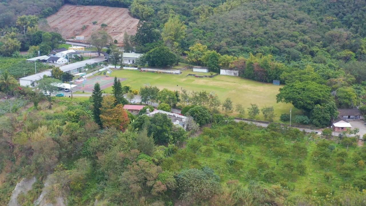 富山國小利吉分校的足球場,在綠色冀泉的協助下,預計於2024年成為亞洲第一座森林足球場
