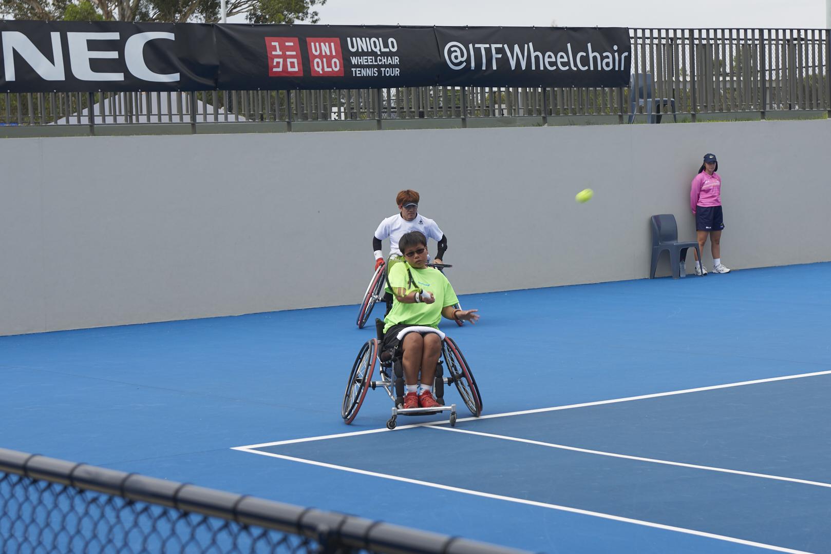 2018年1月,黃楚茵赴雪梨參加國際網聯輪椅網球公開賽