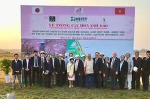 【ベトナム】日越関西友好協会、ハノイで桜150本植樹[社会](2018/11/08)