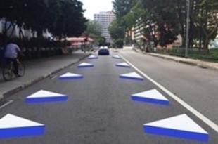 【シンガポール】陸上庁、中部で3D道路標示を試験導入[運輸](2018/12/07)
