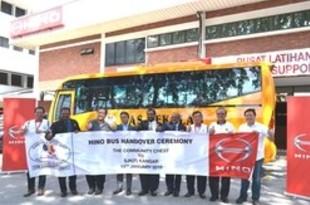 【マレーシア】日野自、教育系NGOに通学用バスを納車[車両](2019/01/15)