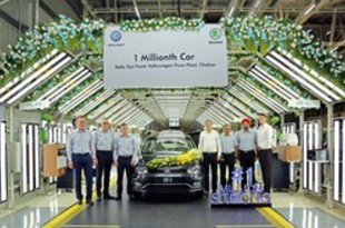 【インド】VWの西部チャカン工場、出荷100万台達成[車両](2019/04/22)