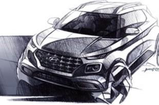 【韓国】現代自、小型SUV「べニュー」の描画公開[車両](2019/04/10)