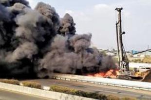【インドネシア】高速鉄道工事場で火災、国営石油のパイプ[社会](2019/10/23)