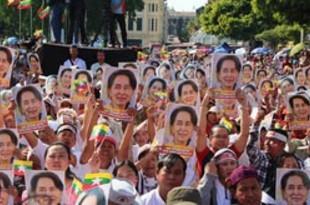 【ミャンマー】ヤンゴン、スー・チー氏の出廷支援で大集会[政治](2019/12/11)